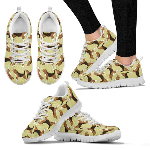 Beagle Pattern Print Sneakers For Women- Express Shipping