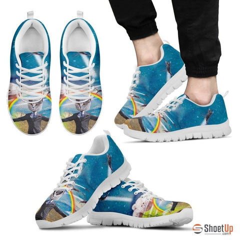 Rainbow Cat Running Shoes Men's-3D Print-Free Shipping