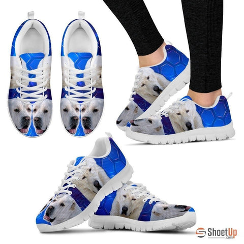 Cool 'Central Asian Shepherd Dog' (White/Black) Running Shoes For Women-Free Shipping