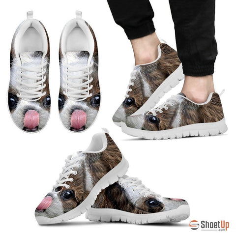 Shih Tzu Printed (Black/White) Running Shoes For Men-Free Shipping Limited Edition