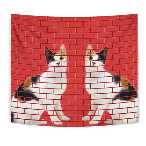 Japanese Bobtail Cat Print Tapestry-Free Shipping