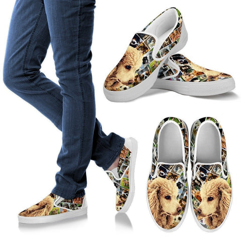 Poodle Print Slip Ons For Women-Express Shipping
