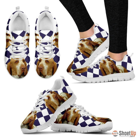 Bracco Italiano Dog (White/Black) Running Shoes For Women-Free Shipping