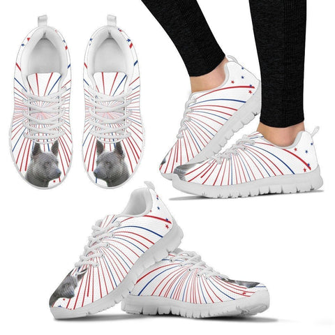 Thai Ridgeback Dog Print (White/Black) Running Shoes For Women-Express Shipping