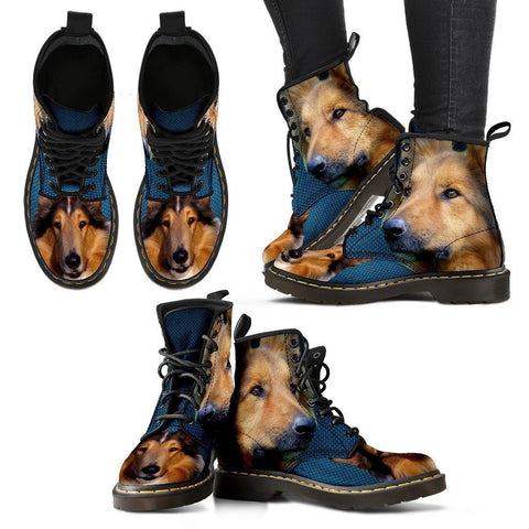 Rough Collie Print Boots For Women-Express Shipping