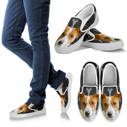 Basenji Print Slip Ons For Women- Express Shipping