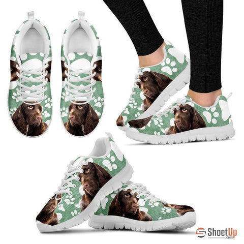 Field Spaniel Print (Black/White) Running Shoes For Women-Free Shipping