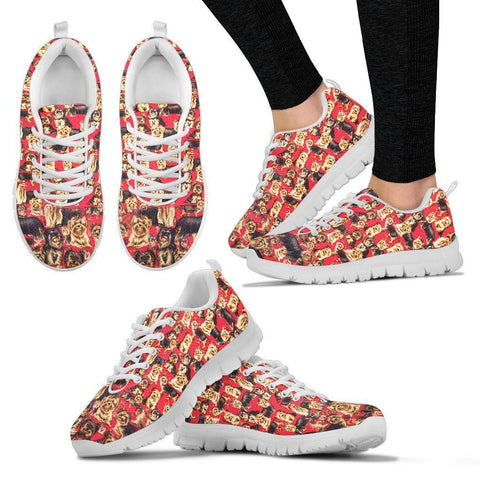 Yorkshire Terrier Pattern Print Sneakers For Women- Express Shipping