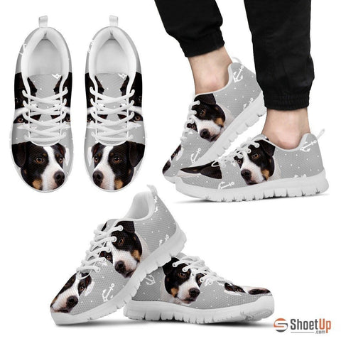 DANISH SWEDISH FARMDOG Dog Print (Black/White) Running Shoes For Men-Free Shipping Limited Edition
