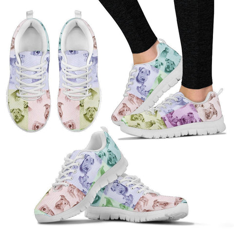 Airedale Terrier Pattern Print Sneakers For Women- Express Shipping
