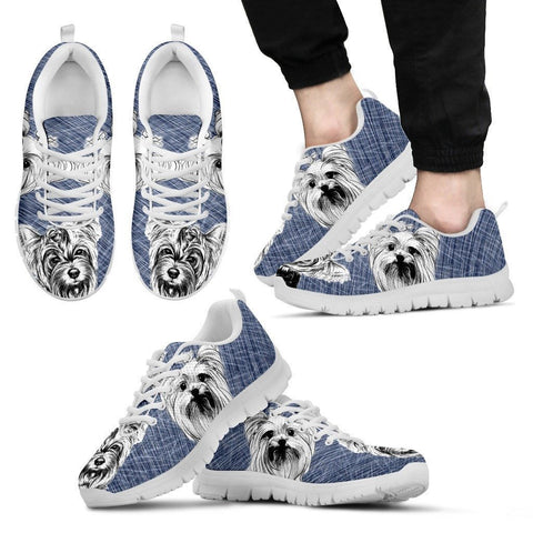 Yorkshire Sketch Print (Black/White) Running Shoes For Men-Free Shipping Limited Edition