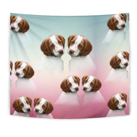 Brittany dog Print Tapestry-Free Shipping