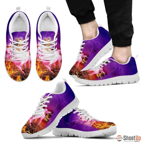 'Hero Cat' Running Shoes For Men-3D Print-Free Shipping
