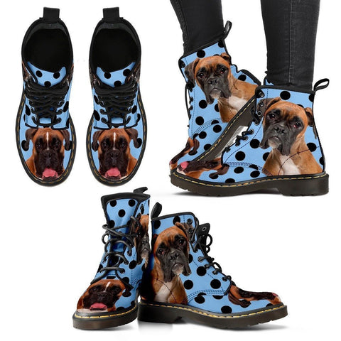 Boxer Print Boots For Women-Express Shipping