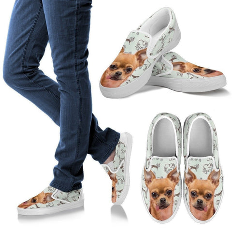 Chihuahua Print Slip Ons For Women-Express Shipping