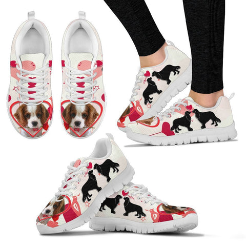 Valentine's Day Special Cavalier King Charles Spaniel Print Running Shoes For Women- Free Shipping