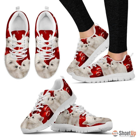West Highland White Terrier-Dog Running Shoes For Women-Free Shipping
