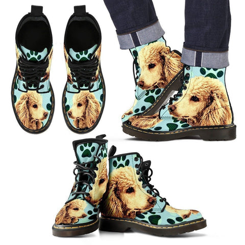 Poodle Print Boots For Men-Limited Edition-Express Shipping