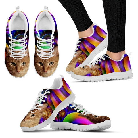 Kathy Shaw/Cat-Running Shoes For Women-3D Print-Free Shipping