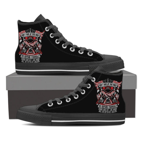 Defend Yourself - Men's Canvas Shoes - Free Shipping