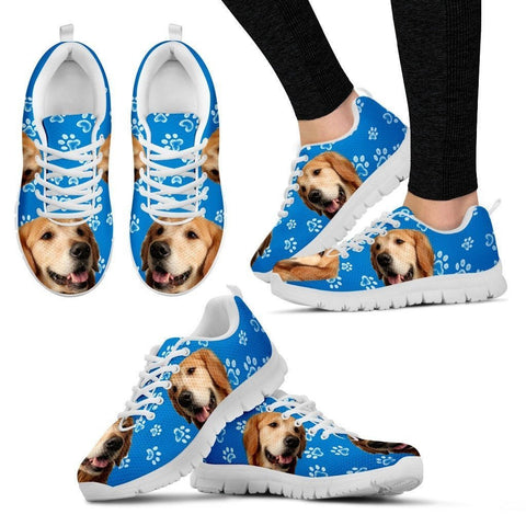 Customized Dog Print Running Shoes For Women-Free Shipping-Designed By Elaine Loke