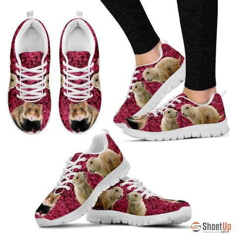 European Hamster Print (Black/White) Running Shoes For Women-Free Shipping