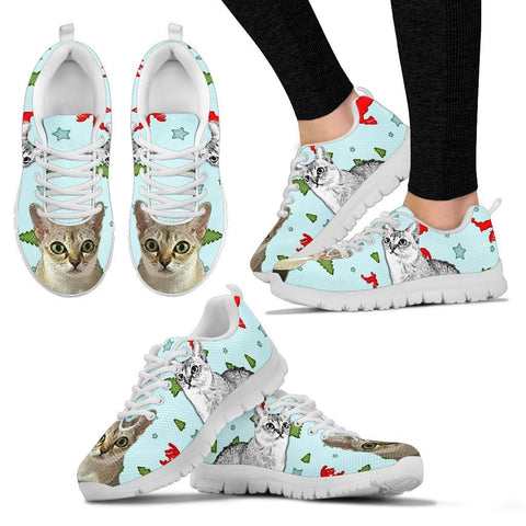 Singapura Cat Christmas Running Shoes For Women- Free Shipping