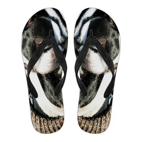 Boston Terrier Women's Flip Flops- Free Shipping
