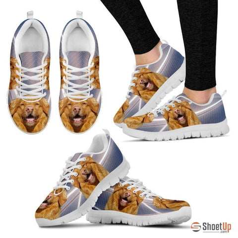 Customized Dog Print (White/Black) Running Shoes For Women-Free Shipping-Designed By Raffaella Belletti(2032)