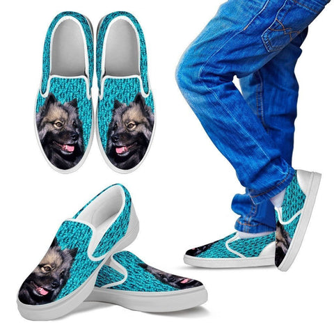 Keeshond Dog Slip Ons For Kids-Free Shipping