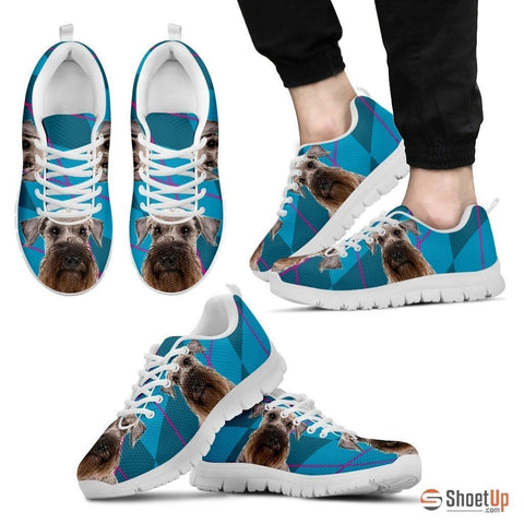 Cesky Terrier Dog (White/Black) Running Shoes For Men-Free Shipping