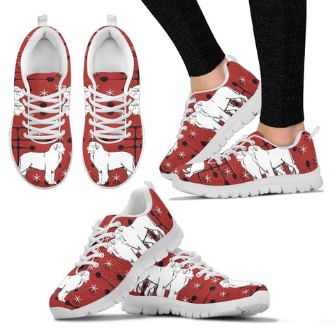 Newfoundland dog Print Christmas Running Shoes For Women-Free Shipping