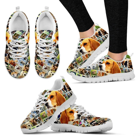 Lovely Beagle Print-Running Shoes For Women-Express Shipping