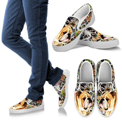 Amazing Bulldog Print Slip Ons For Women-Express Shipping