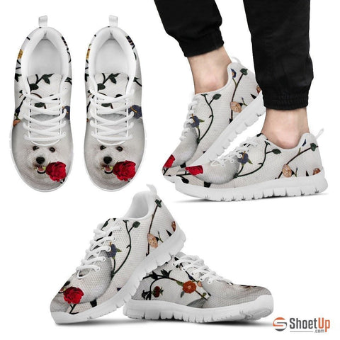 Bichon Frise Dog Running Shoes For Men-Free Shipping