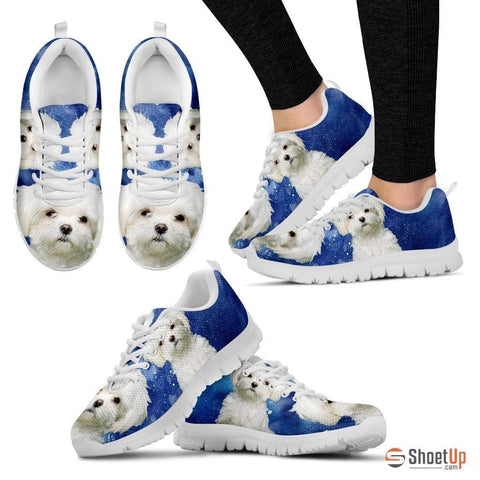 Maltese Dog Running Shoes For Women-Free Shipping