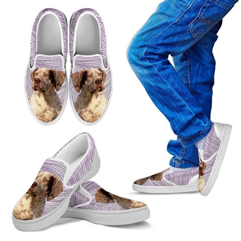 Braque du Bourbonnais Dog Print Slip Ons For Kids-Express Shipping