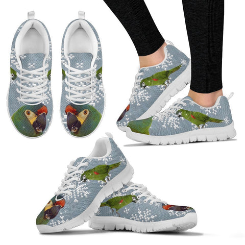 Mini Macaw Parrot Print Christmas Running Shoes For Women-Free Shipping