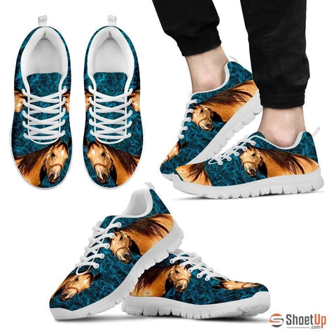 Quarter Horse Print (White) Running Shoes For Men-Free Shipping Limited Edition