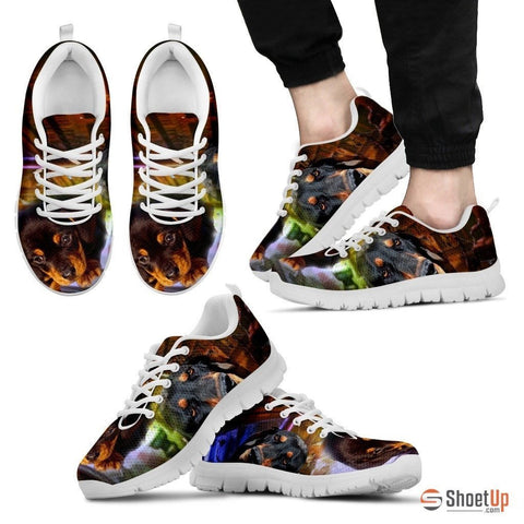 Coonhound Dog Print Running Shoe For Men- Free Shipping