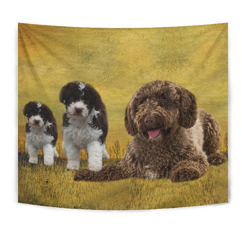 Spanish Water Dog Print Tapestry-Free Shipping