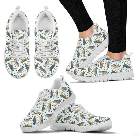 German Shepherd Pattern Print Sneakers For Women- Express Shipping