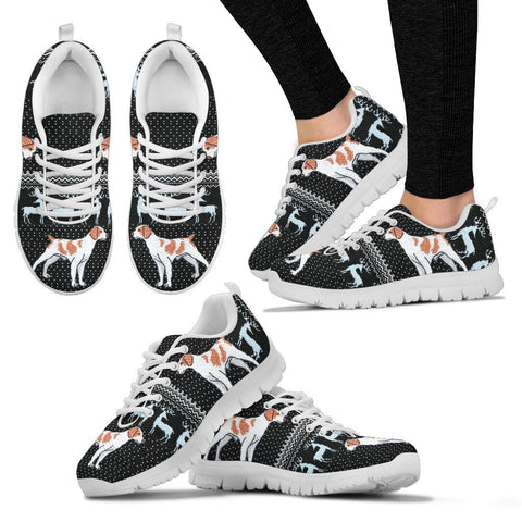 Brittany dog Print Christmas Running Shoes For Women-Free Shipping