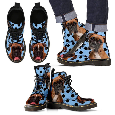 Boxer Print Boots For Men-Express Shipping