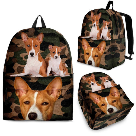Basenji Dog Print Backpack-Express Shipping