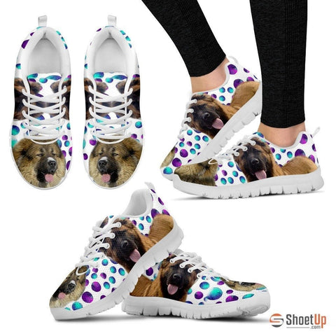 Caucasian Shepherd Dog (White/Black) Running Shoes For Women-Free Shipping
