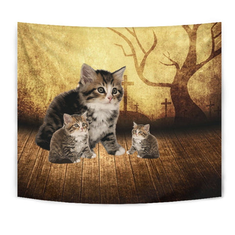 Siberian Cat Print Tapestry-Free Shipping