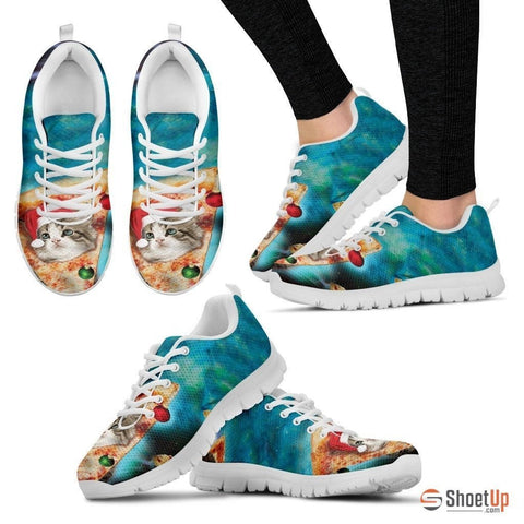 Cat On Pizza-Women's Running Shoes-Free Shipping