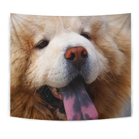 Chow Chow Dog Blue Tongue Print Tapestry-Free Shipping