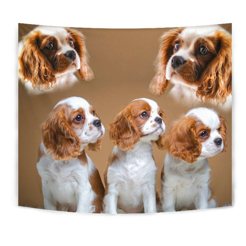 Cute Cavalier King Charles Spaniel Print Tapestry-Free Shipping